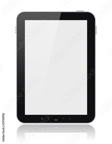 Tablet Computer With Blank Screen Isolated