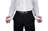 The Businessman Turns His Empty Trousers Pockets
