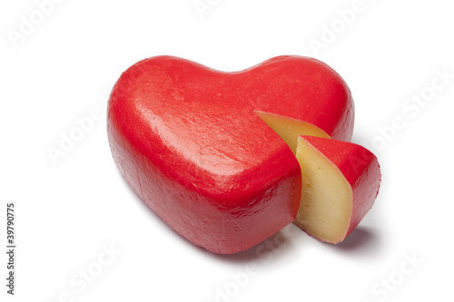 Heart shaped Gouda cheese