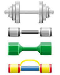 dumbbells for fitness vector illustration