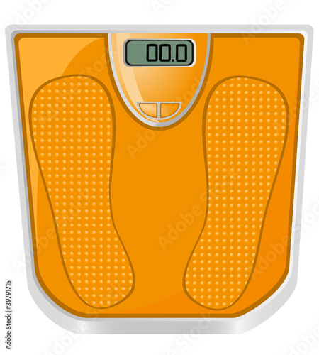 floor scales vector illustration