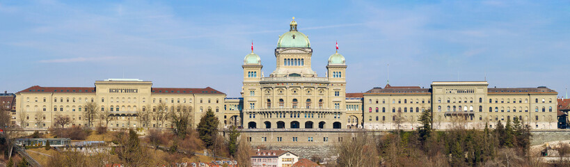 Bundeshaus in Bern, Panoramic View