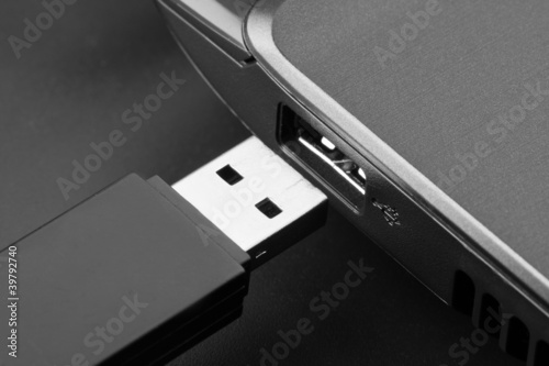 Plugging removable flash disk