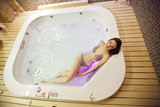 Girl in spa