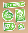 Eco Friendly Formula stickers