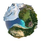 Fototapety Globe landscapes diversity