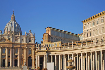 Rome, Saint Peter basilica and Pope Residence