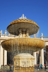 Rome, fountain at Vatican square