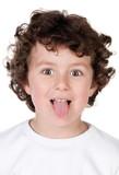 Funny child mocking poster
