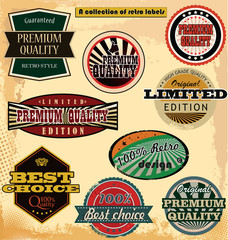 retro label banner collection