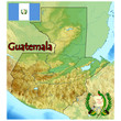 guatemala central america map flag emblem