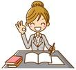 女性 勉強 調べる 資格