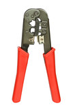 Modular crimping tool isolated on white background poster