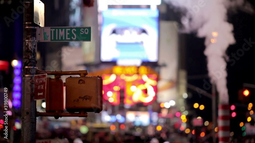 Busy Street in Times Square, New York City