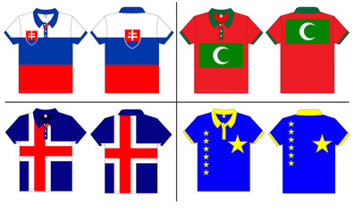 polo shirt designs internationally. Vector template