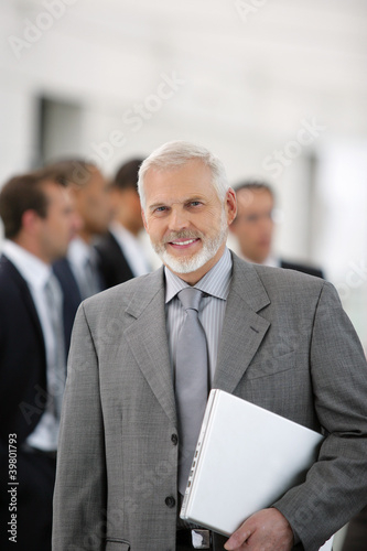 Businessman at a meeting