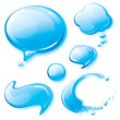 Set of water speech bubbles.