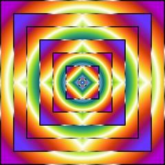 Mandala Hypnotic Square-Ipnotico Quadrato-Vector