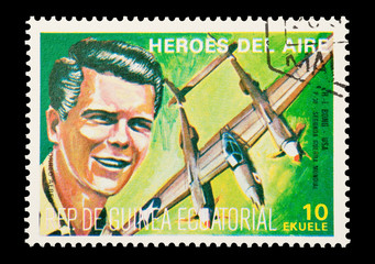 Equatorial Guinea, circa 1974 - WW2 pilot Richard Bong