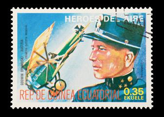 Equatorial Guinea, circa 1974 - WW1 pilot Godwin von Brumowski