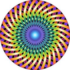 Mandala Hypnotic-Ipnotico Cerchio-Vector