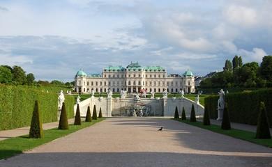 View on Belvedere palace and its garden Vienna, Austria