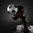 soccer ball in liquid