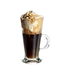 Irish coffee cocktail