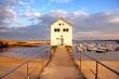 Le jour se lève à la pointe de Trévignon (Finistère, Bretagne)