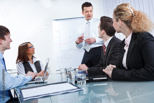 Leinwanddruck Bild gemeinsam diskutieren