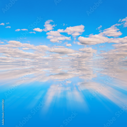 Blue sky reflextion