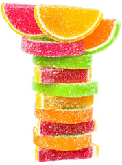 Tower of candy isolated.