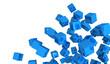 Banner - Fliegende Würfel Blau