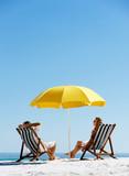 Fototapety Beach summer umbrella