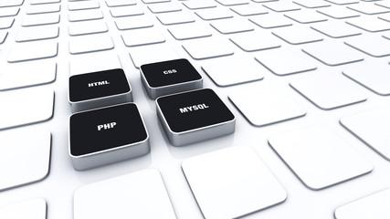 3D Pads Schwarz - HTML CSS PHP MYSQL 3