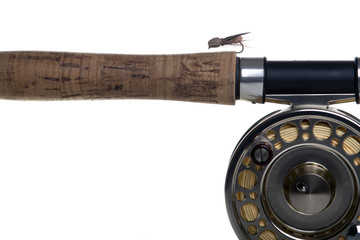 Stone dry fly on the rod