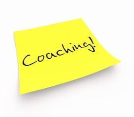 Notizzettel - Coaching!