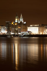 Liverpool night cityscape