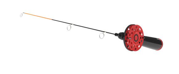 ice fishing rod on white