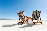 Fototapety summer relaxing beach couple