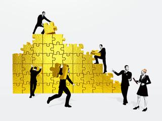 3D People - Gold Puzzle