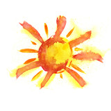 Fototapety watercolor sun