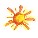 Fototapety watercolor sun