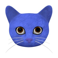 3d render of cartoon cat