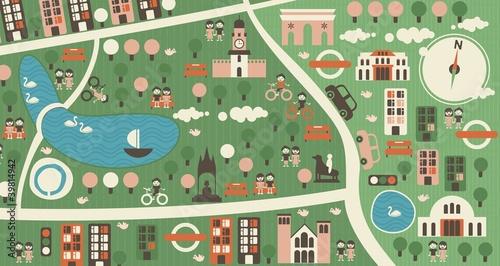 Foto op Plexiglas Op straat cartoon map of hyde park london