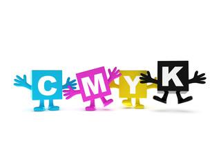 Happy CMYK colors background