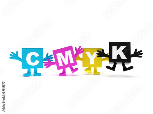 Happy CMYK colors background