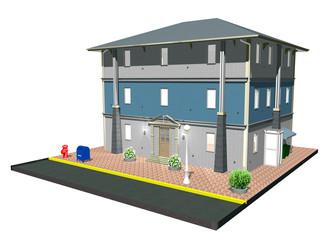 Immobile Casa di Città con Strada-City House-3d