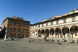 Piazza of the Foundling Hospital in Florence Italy