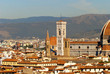 View of the city from Minitao Church in Florence Italy